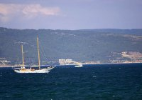 Yacht on Black sea