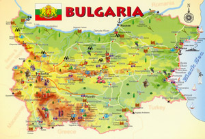 map of bulgaria small